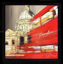 St Paul's Rush Hour Edward Waite Original Painting