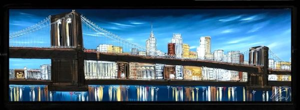 Edward Waite - An Evening in Brooklyn - Original Painting