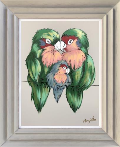 Amy Louise Original Painting - Love Birds