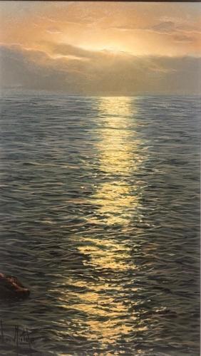 Alfredo Navarro Dancing Light Original Oil Painting unframed