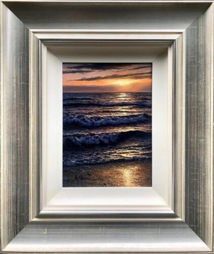 Alfredo Navarro Shoreline Stroll Original Painting Framed