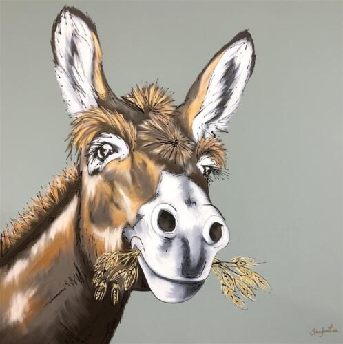 Amy Louise The Dedicated Donkey Original Painting