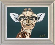 Amy Louise The Smug Little Giraffe Original Painting
