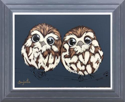 Amy Louise Two Little Night Owls Original Painting