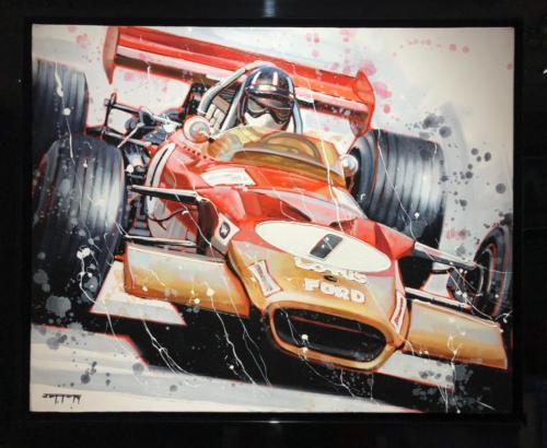 Ben Jeffery Graham Hill 1968 Winning Car Original Painting