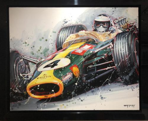Ben Jeffery Jim Clark Original Painting