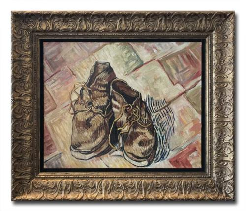David Henty Shoes in the style of Vincent Vangogh Original Painting