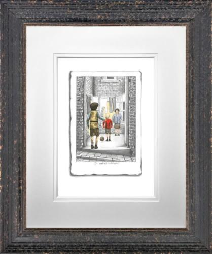 Leigh Lambert It Was His Fault Framed Limited Edition Sketch