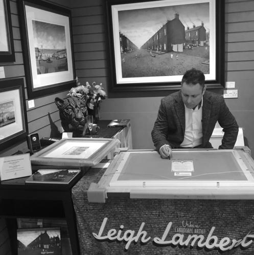 Leigh Lambert signing artist exhibition